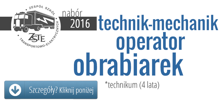 Technik mechanik - operator obrabiarek